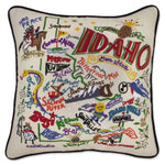 Idaho Hand Embroidered Catstudio State Pillow-Pillow-CatStudio-Top Notch Gift Shop