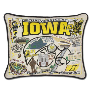 University of Iowa Embroidered Pillow by CatStudio-Pillow-CatStudio-Top Notch Gift Shop