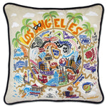 Los Angeles Embroidered Catstudio Pillow-Pillow-CatStudio-Top Notch Gift Shop