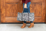 Zebra Duffel Bag - Personalized-Bag-Viv&Lou-Top Notch Gift Shop