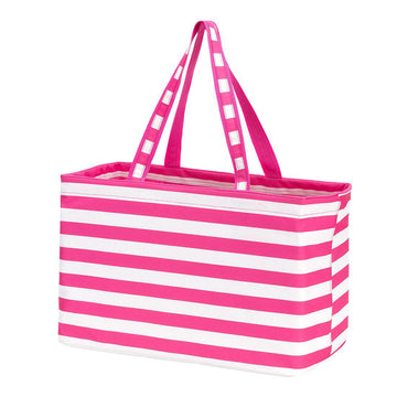 Hot Pink Stripe Ultimate Tote - Personalized