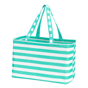Mint Stripe Ultimate Tote - Personalized