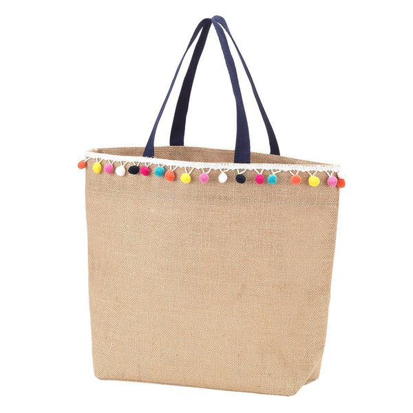 Multicolor Pom-Pom Tote-Bag-Viv&Lou-Top Notch Gift Shop