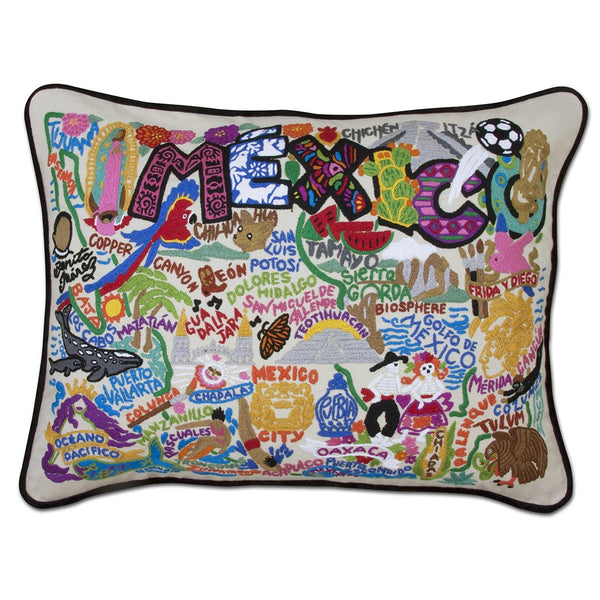 Mexico Embroidered Catstudio Pillow-Pillow-CatStudio-Top Notch Gift Shop