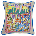 Miami Embroidered Catstudio Pillow-Pillow-CatStudio-Top Notch Gift Shop