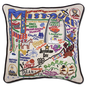 Missouri State Embroidered CatStudio Pillow-Pillow-CatStudio-Top Notch Gift Shop