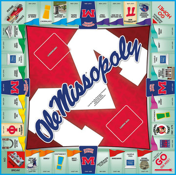 Ole Miss-opoly University of Mississippi Monopoly Game