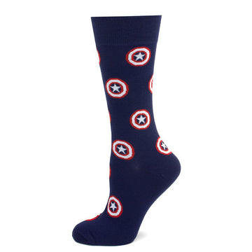 Captain America Navy Socks