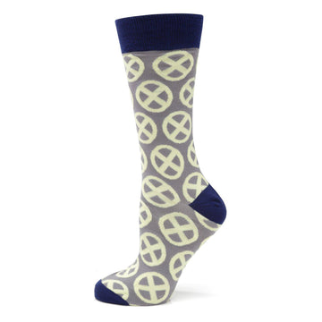 X-Men Symbol Yellow Sock