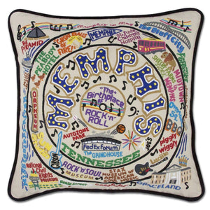 Memphis Embroidered Catstudio Pillow-Pillow-CatStudio-Top Notch Gift Shop