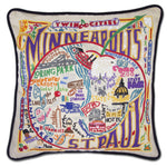 Minneapolis-St. Paul Embroidered Catstudio Pillow-Pillow-CatStudio-Top Notch Gift Shop