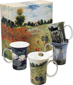 Monet Bone China Mugs - Set of 4-Mug-McIntosh Trading-Top Notch Gift Shop