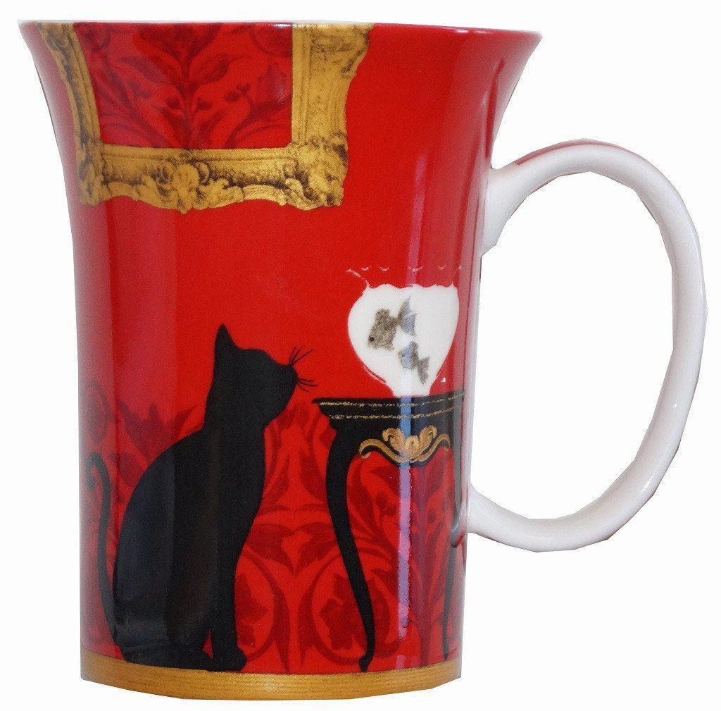 Mystical and Curious Cats Set of 4 Bone China Mugs-McIntosh Trading-Top Notch Gift Shop