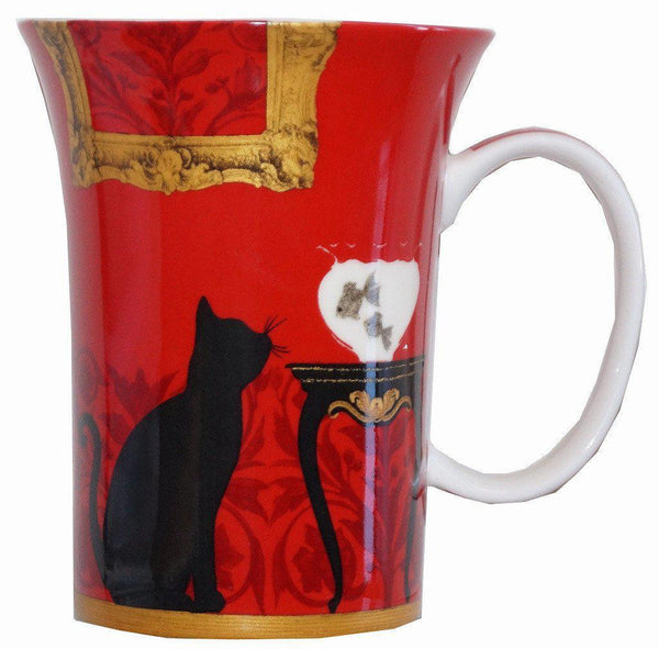 Mystical and Curious Cats Set of 4 Bone China Mugs-Mug-McIntosh Trading-Top Notch Gift Shop