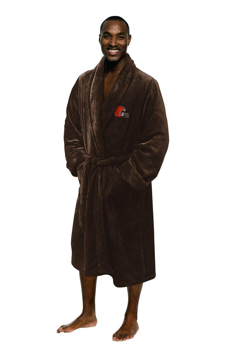 Cleveland Browns Men's Silk Touch Plush Bath Robe-Bathrobe-Northwest-Top Notch Gift Shop