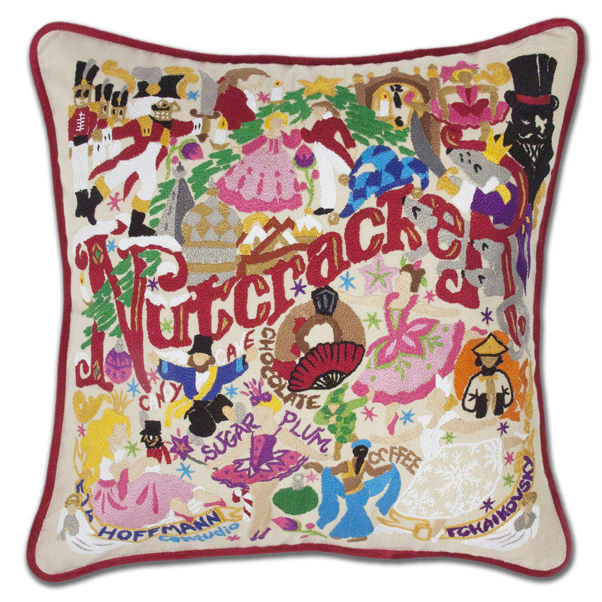 Nutcracker Embroidered Catstudio Pillow-Pillow-CatStudio-Top Notch Gift Shop