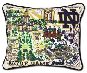 Notre Dame Embroidered CatStudio Pillow-Pillow-CatStudio-Top Notch Gift Shop