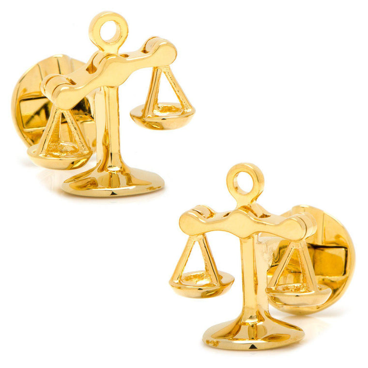 Moving Parts Scales of Justice Cufflinks - Gold-Cufflinks, Inc.-Top Notch Gift Shop