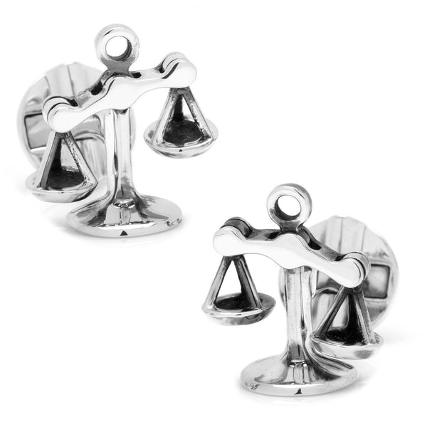 Moving Parts Scales of Justice Cufflinks-Cufflinks-Cufflinks, Inc.-Top Notch Gift Shop