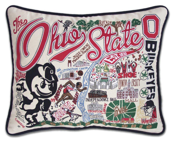 Ohio State University Embroidered Catstudio Pillow-Pillow-CatStudio-Top Notch Gift Shop