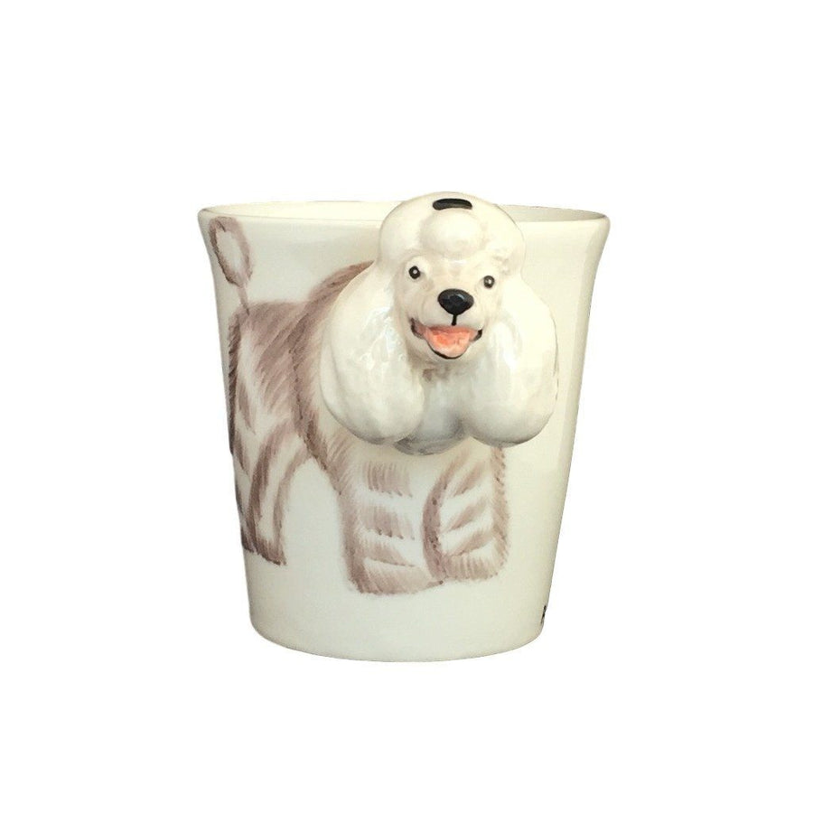 White Poodle Hand Painted Coffee Mug-Mug-Sea Island-Top Notch Gift Shop