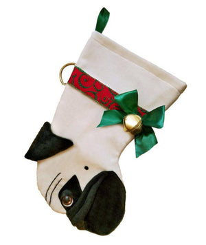 Pug Christmas Stocking-Holiday Stocking-Hearth Hounds-Top Notch Gift Shop