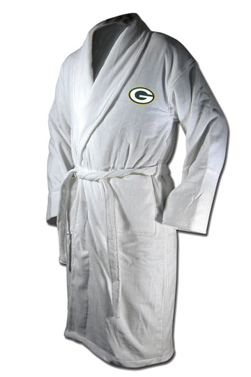 Green Bay Packers White Terrycloth Bathrobe