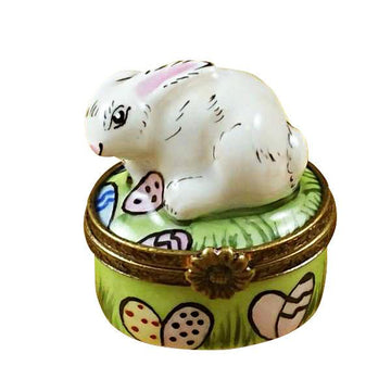 Mini Rabbit with Easter Eggs Limoges Box by Rochard™
