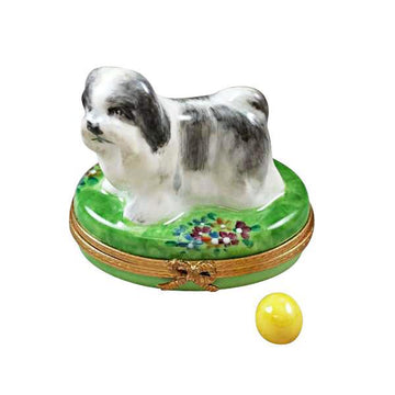 Shih Tzu (Grey) Limoges Box by Rochard™