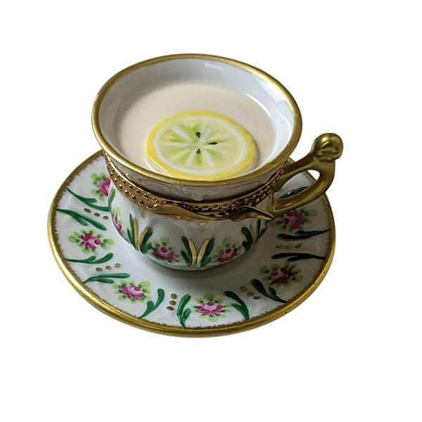 Cup Of Tea  with Lemon Limoges Box by Rochard™