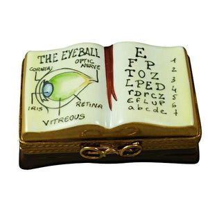 Ophthalmologist/Eye Doctor Book Limoges Box by Rochard™-Limoges Box-Rochard-Top Notch Gift Shop