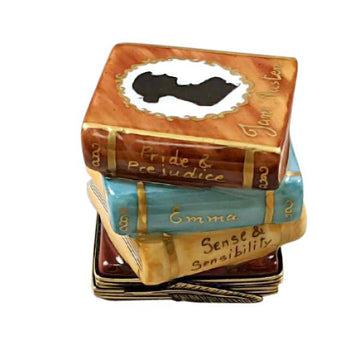 Jane Austen Stack of Books Limoges Box by Rochard™