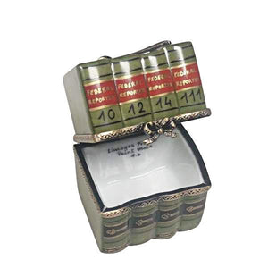 Law Books with Gavel Limoges Box by Rochard™-Limoges Box-Rochard-Top Notch Gift Shop