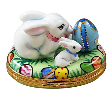 Bunny with Eggs and Babies Limoges Box by Rochard™