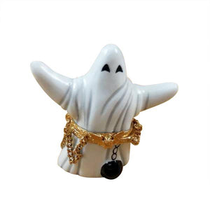 Ghost with Ball and Chain Limoges Box by Rochard™-Rochard-Top Notch Gift Shop