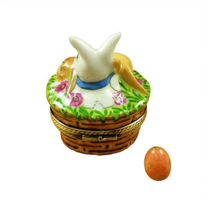 3 Rabbits in Basket Limoges Box by Rochard™-Limoges Box-Rochard-Top Notch Gift Shop