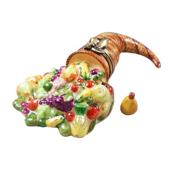 Cornucopia with Removable Pear Limoges Box  by Rochard