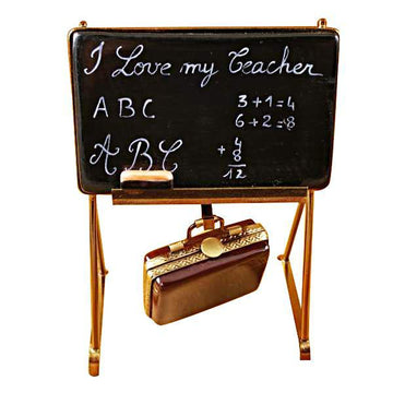 Teacher's Blacklboard Limoges Box  by Rochard