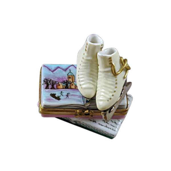 Skates On Book Limoges Box by Rochard™-Limoges Box-Rochard-Top Notch Gift Shop