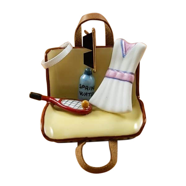 Tennis Bag with Gear Limoges Box by Rochard-Limoges Box-Rochard-Top Notch Gift Shop