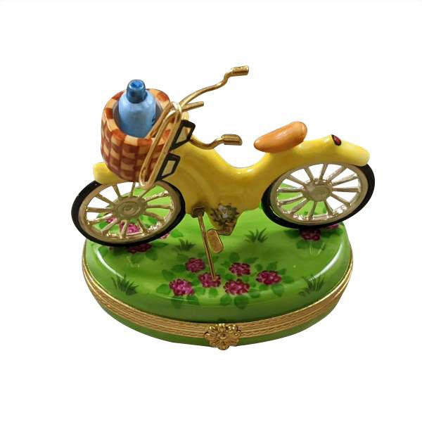 Yellow Beach Cruiser Limoges Box by Rochard™-Limoges Box-Rochard-Top Notch Gift Shop
