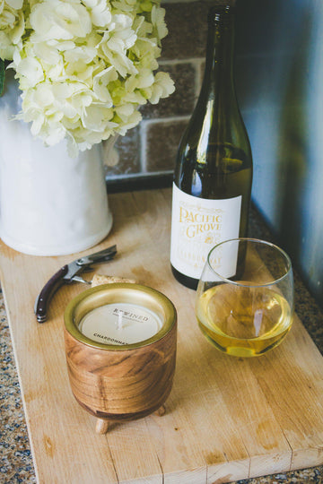 Chardonnay Wine Scented Barrel Aged Candle