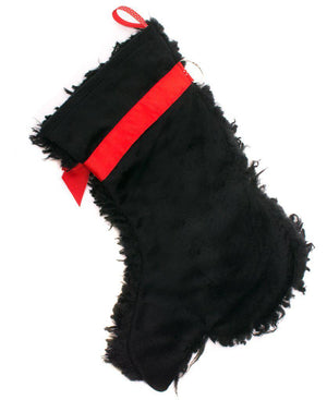 """Curly"" Black Dog Christmas Stocking-Holiday Stocking-Hearth Hounds-Top Notch Gift Shop"