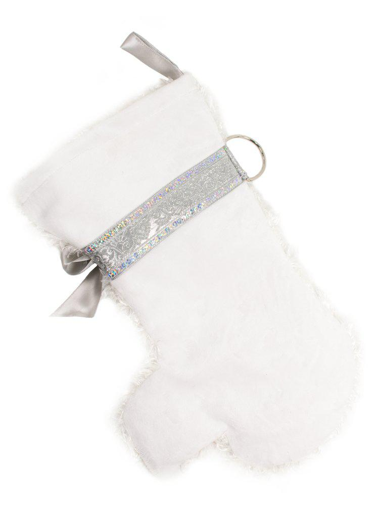 """Snowball"" White Dog Christmas Stocking-Holiday Stocking-Hearth Hounds-Top Notch Gift Shop"