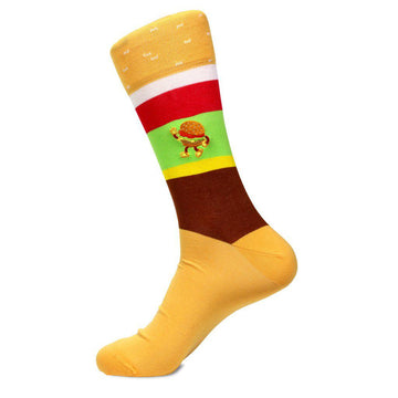 Golden Arches - Men's Mid Calf Cotton Blend Socks