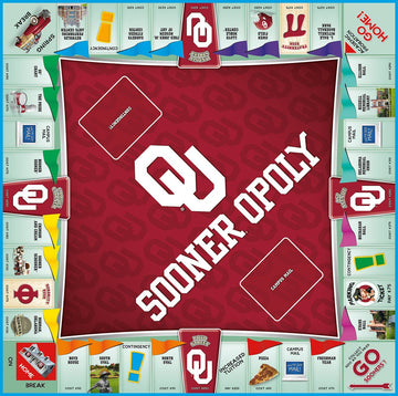 Sooner-opoly University of Oklahoma Monopoly Game