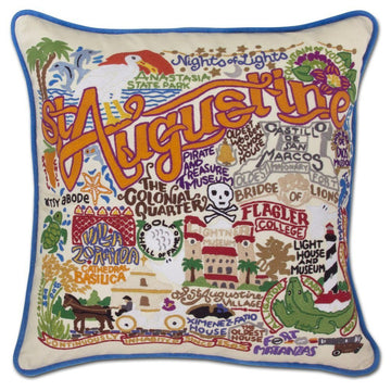 St. Augustine Embroidered Catstudio Pillow