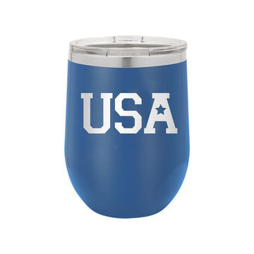 USA Royal Blue 12oz Insulated Tumbler
