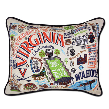 University of Virginia Embroidered Catstudio Pillow