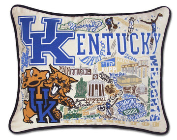University of Kentucky Embroidered Catstudio Pillow